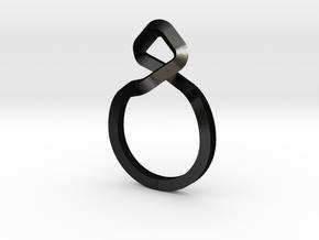 A-LINE Dancing D.011 Sharp, US size 5, d=15,5mm in Matte Black Steel: 5 / 49