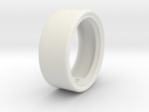 Tire in White Natural Versatile Plastic