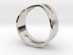 STUDIO PAULBAUT LOGO Ring (Size 5) in Platinum