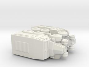 French Lorraine 28 Trucks 1/144 in White Natural Versatile Plastic