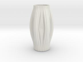 Vase 55 in White Natural Versatile Plastic