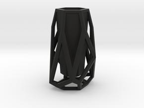 GEOMETRIC VASE in Black Natural Versatile Plastic
