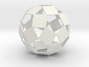 Open Rhombicosadodecahedron in White Strong & Flexible