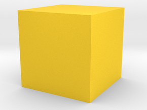 2 Cube (or hexahedron) (six faces). in Yellow Processed Versatile Plastic