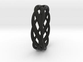 ring Double Braid in Black Premium Strong & Flexible: 4.5 / 47.75