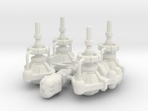 Fuel Refinery Ship in White Premium Versatile Plastic