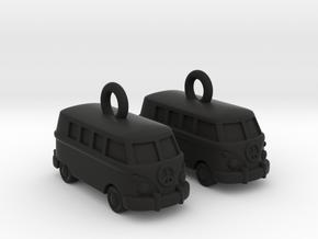 VW Van Earrings in Black Premium Strong & Flexible