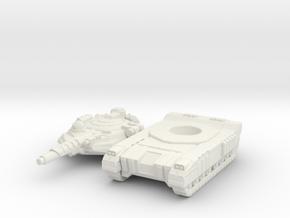 Terran Laser Tank in White Premium Versatile Plastic