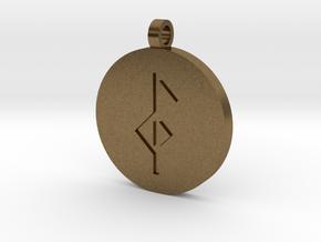 Health & Healing Pendant in Natural Bronze