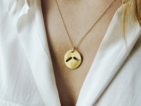STUDIO PAULBAUT LOGO Pendant in 14K Yellow Gold