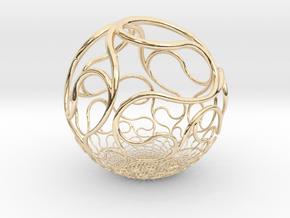 YyI Sphere in 14K Yellow Gold