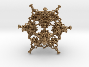 Rotated Icosahedron in Natural Brass