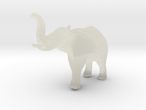 elephant - low poly in Transparent Acrylic