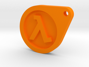 Half Life Dog Tag in Orange Processed Versatile Plastic