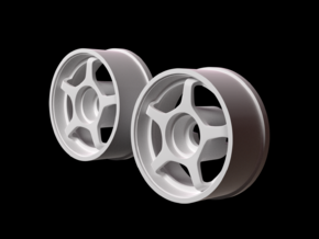 Mini Z RWD Wheel Front offset +2 in White Strong & Flexible