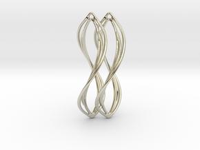 Flower 38 Twist - Pair in 14k White Gold