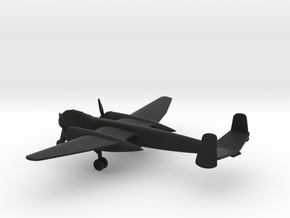 Heinkel He 219 Uhu in Black Natural Versatile Plastic: 1:200