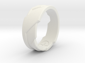 GD Ring (Choose Size Below) in White Natural Versatile Plastic