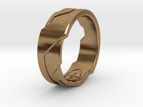 GD Ring (Choose Size Below) in Natural Brass