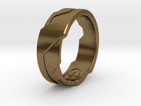 GD Ring (Choose Size Below) in Natural Bronze
