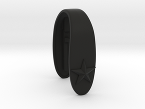 STAR #36 KEY FOB in Black Natural Versatile Plastic