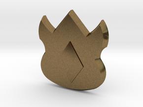 Pokemon Kanto Volcano Badge in Natural Bronze