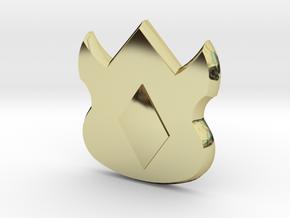 Pokemon Kanto Volcano Badge in 18K Gold Plated