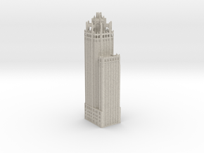 Tribune Tower (1:600 Scale) in Sandstone