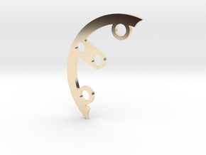 Rad fin A-4 in 14k Gold Plated Brass