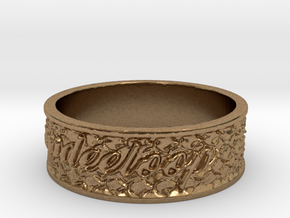 My Awesome Ring Design Ring Size 6.5 in Natural Brass