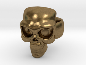 Skull Ring 'Sole'  in Natural Bronze: 6 / 51.5