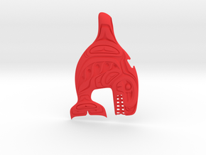 Haida Gwaii - Killer Whale in Red Processed Versatile Plastic