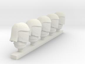cobra commander helmet in White Natural Versatile Plastic