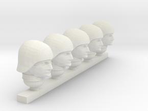 cobra trooper helmet in White Natural Versatile Plastic