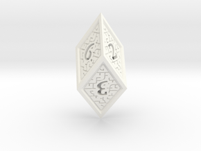 Hedron D6 (Solid), balanced gaming die in White Processed Versatile Plastic