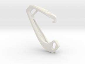 Cobra Carabiner *Medium* DH003SW in White Natural Versatile Plastic