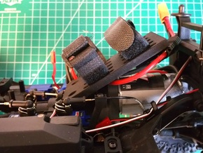 Traxxas TRX-4, Front Angled Battery Tray in Black Natural Versatile Plastic