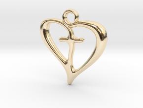 Cross My Heart Pendant in 14K Yellow Gold