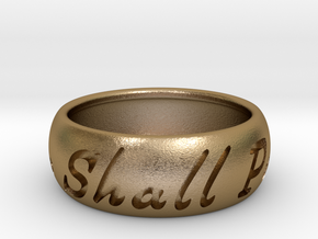 This Too Shall Pass Ring size 13 in Polished Gold Steel