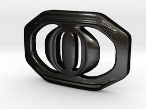 Buckle for material belt in Matte Black Steel