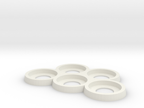 25mm Play and Display trays in White Natural Versatile Plastic: Small