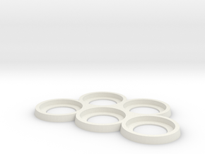 32mm Play and Display trays in White Natural Versatile Plastic: Small