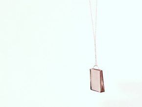 Plain Bag Pendant in 14k Rose Gold Plated