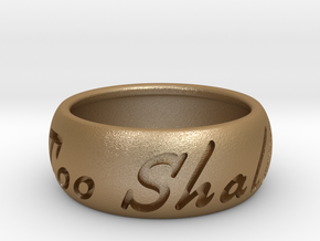 This Too Shall Pass Size ring size 10 1/2 in Matte Gold Steel