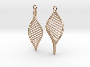 DNA Earrings 180 in 14k Rose Gold Plated Brass