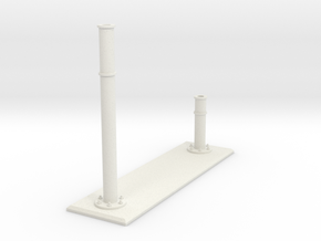 Base Supports for rail 1 in White Natural Versatile Plastic