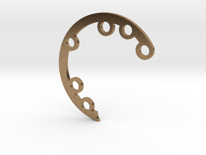 Rad Fin A Hinge in Natural Brass