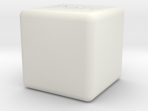 Dart Box in White Natural Versatile Plastic