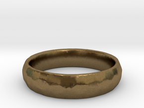 Beaten Ring 03 - Size 9 - 5.25mm wide in Natural Bronze