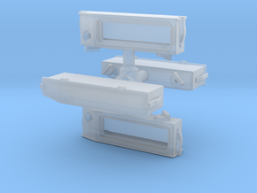 N Scale SW? Angled Number Board Housing 4PK in Smoothest Fine Detail Plastic